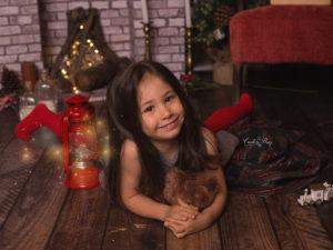 Sesión fotográfica de Navidad