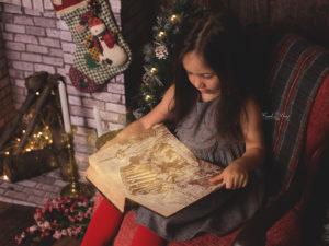 Fotografía infantil de Navidad